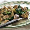 Spinach and Mushroom Scramble