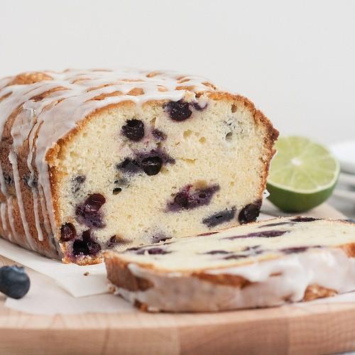 Blueberry Lime Zucchini Pound Cake
