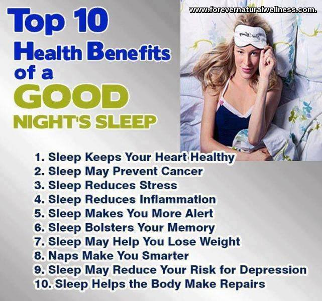 Top 10 Sleep Benefits