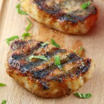 Grilled Pork Chops with Honey Mustard Glaze
