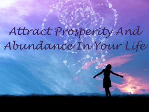 Attract Prosperity and Abundance