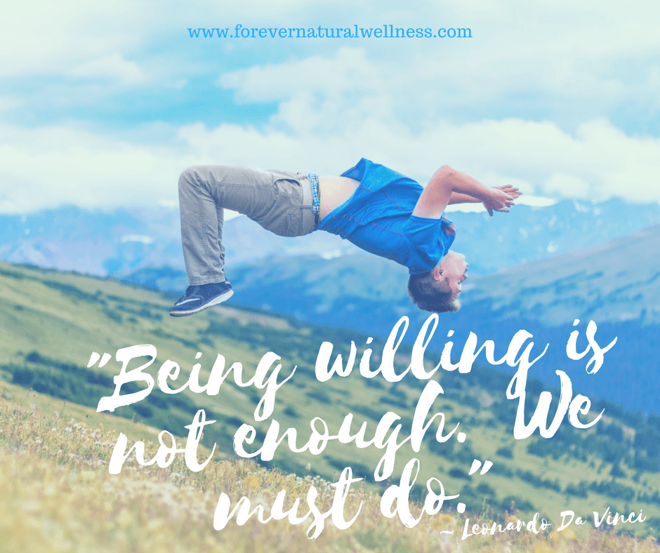 Being Willing is not enough,. We must do.