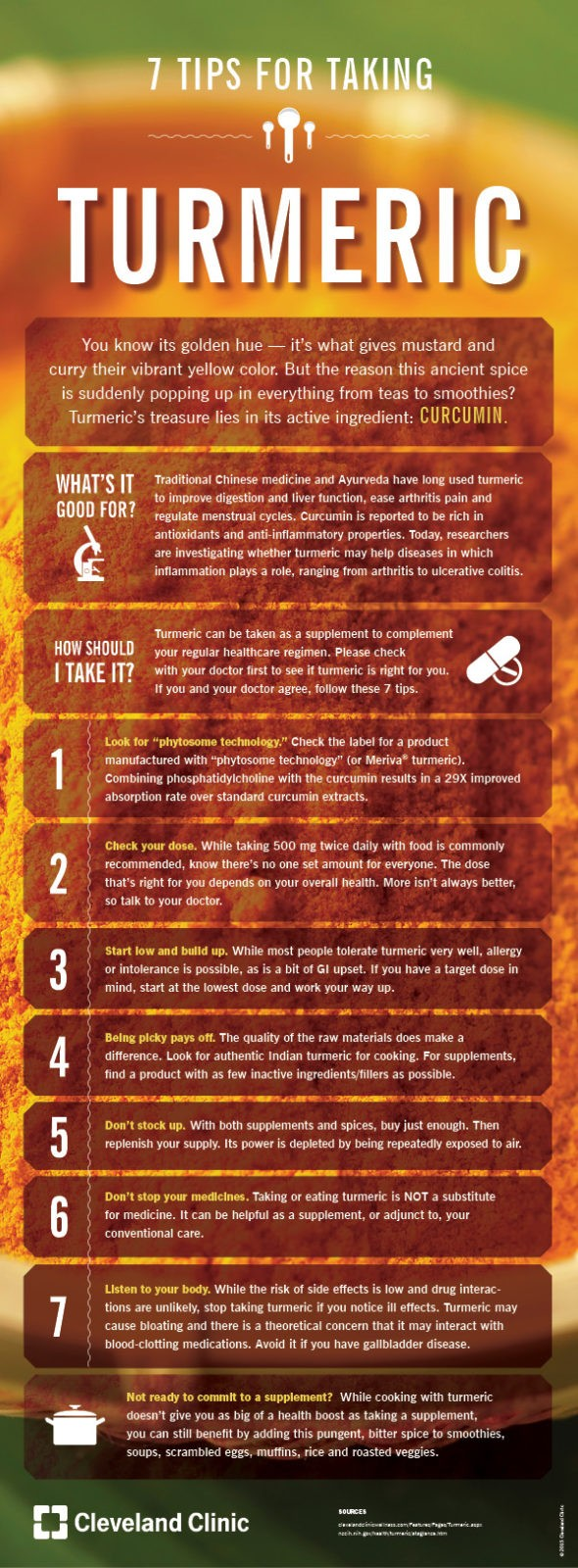 Cleveland Clinic - 7 Tips for Taking Turmeric