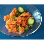 Smoked Salmon, Cucumbers and Lime